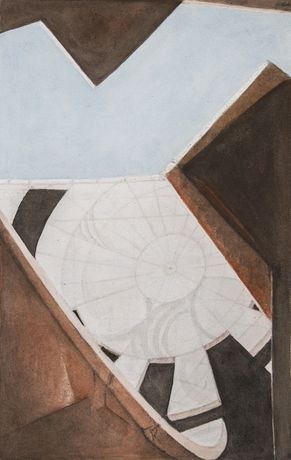 Jantar Mantar, Jaipur, 2013. Opaque watercolour on paper, 40 x 26 cm