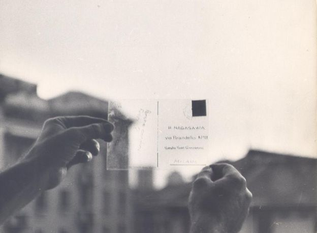 Antonio Trotta, Panorama mobile reale, 1969. Print on plexiglass, postcard dimensions.