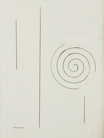 Portrait of James Joyce by Constantin Brancusi, frontispiece to Tales Told of Shem and Shaun: Three Fragments from Work in Progress, The Black Sun Press, 1929
