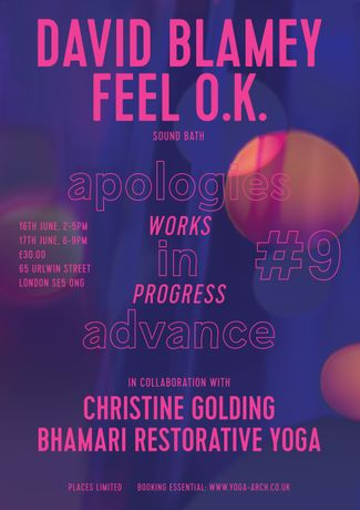 Apologies in Advance #9 - David Blamey: Feel O.K.: Image 0