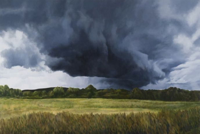 April Gornik  Cloud Bringing Night, 2015  oil on linen  72 x 108 inches