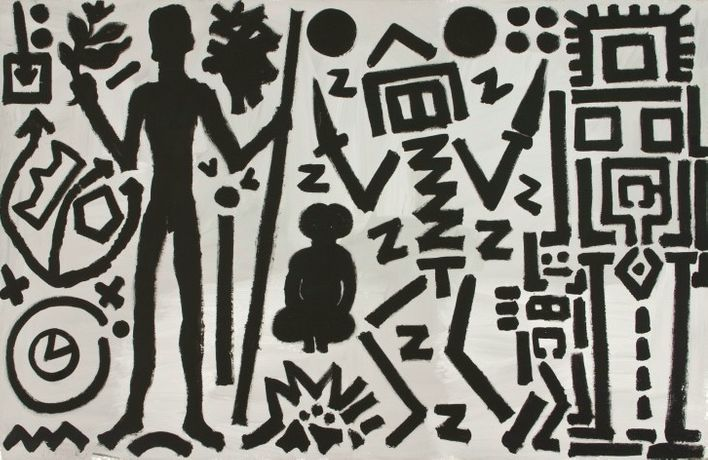 A.R. Penck. Paintings from the 1980s and Memorial to an Unknown East German Soldier