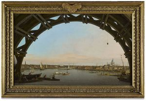 London Seen through an Arch of Westminster Bridge (1747) by Canaletto Image credits: Collection of the Duke of Northumberland