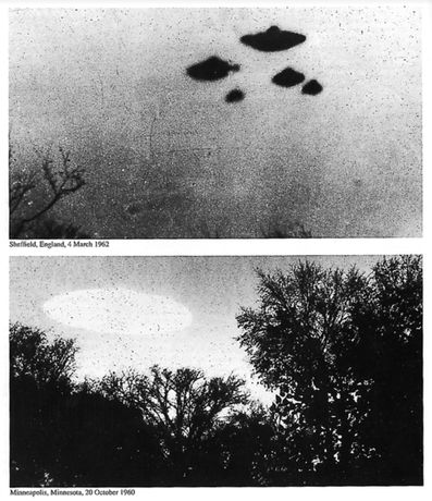 De-classified images of UFO sightings