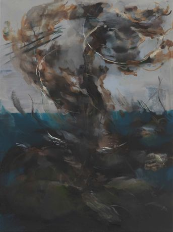 Nazzarena Poli Maramotti, Tornado, 2014, oil on canvas, 80 x 60 cm