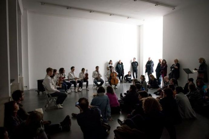 Ari Benjamin Meyers, Kunsthalle for Music, Installation view at Witte the With, Rotterdam. Courtesy the Artist.