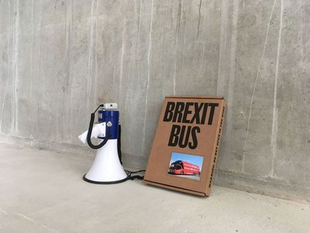 Arnaud Desjardin & Fraser Muggeridge, Brexit Bus 2019. Courtesy of the artists and Matt's Gallery, London.