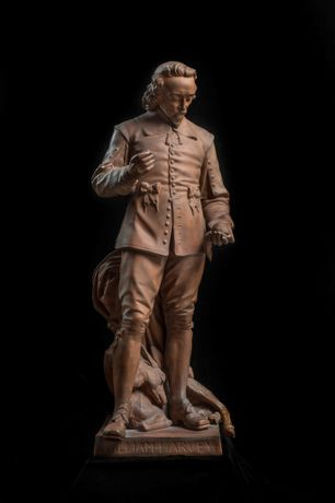 Statuette of William Harvey, 1886, photograph by John Chase (c) Royal College of Physicians