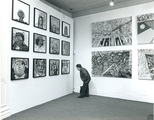 John Hyatt, Connections exhibition at Bluecoat, 1986