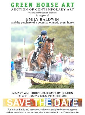 Art auction in aid of international event rider Emily Baldwin
