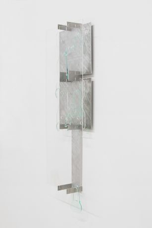 Elizabeth Orr, Mount 3, 2018, Plexi Glass and Aluminum, 34 x 13 x 4 inches, Courtesy of the artist and Bodega