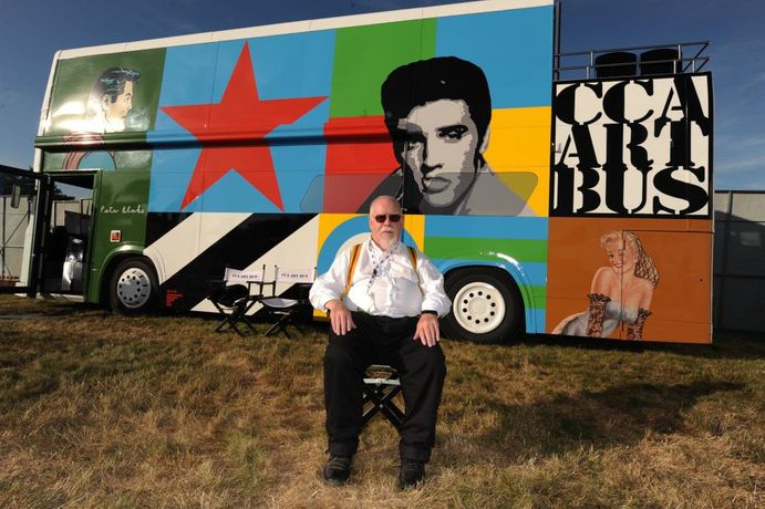 ART BARTER exhibiting on Sir Peter Blake's Art Bus at Strummer of Love Festival: Image 0