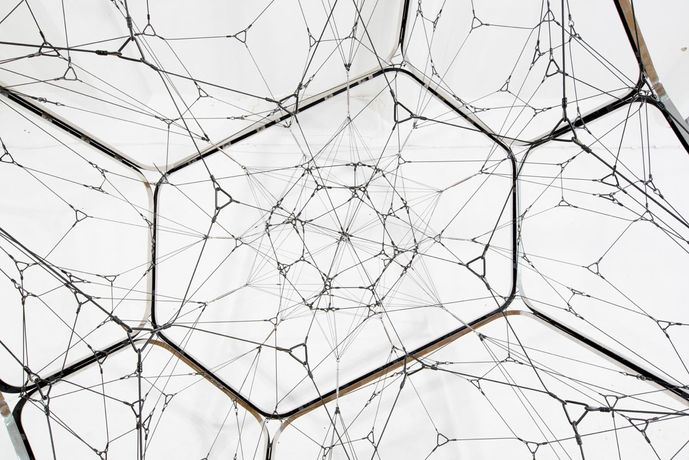 Tomás Saraceno One Module Cloud with Interior Net, 2015 Tanya Bonakdar Gallery Courtesy the artist and the gallery