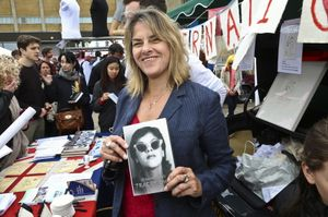 Tracey Emin at the Vauxhall Art Car Boot Fair 2013