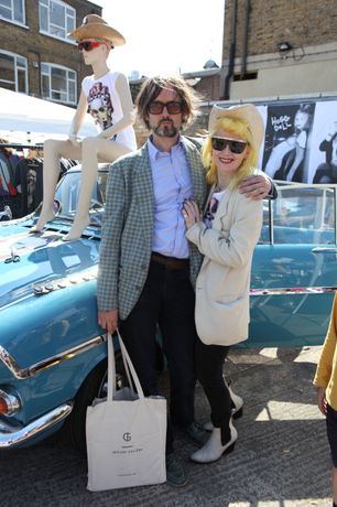 Jarvis Cocker and Pam Hogg at Art Car Boot Fair