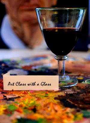 Art Class with a Glass