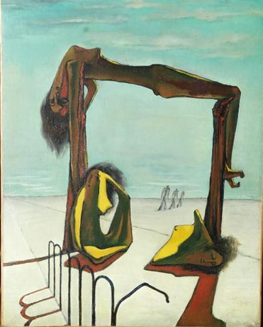 © DR / Photo © Haitham Shehab  Ramses Younan, « Untilted », 1939. Collection de S. Exc. Sh. Hassan M. A. Al Thani, Doha