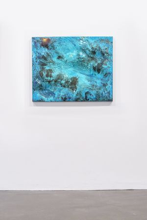 Shelley Anderson 'LOOKING TO THE ISLAND' Hand beaten bronze panel + chemical patina, 74 x 94 x 3 cm