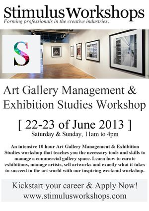 Art Gallery Management and Exhibition Studies Workshop