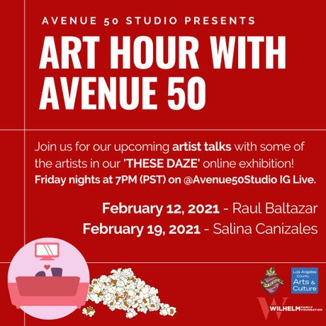 February 2021, Art Hour with Avenue 50 Schedule