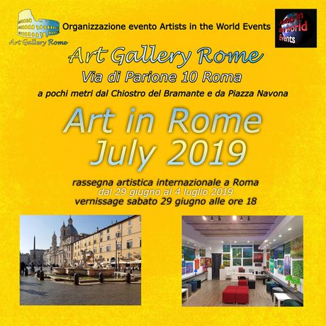 flyer fronte Art Gallery Rome