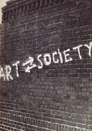 Cover of catalogue for exhibition Art into Society – Society into Art: Seven German Artists