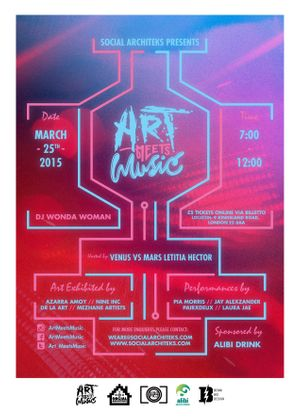 Art Meets Music at Hoxton Gallery 25th March 7-12