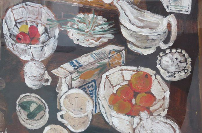 Image: John Bratby, Still Life with Oranges, circa 1955-59 (detail) © the artist's estate / Bridgeman Images
