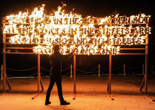 ROBERT MONTGOMERY FIRE POEM