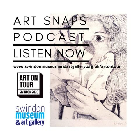 Advertisement for Art Snaps podcast