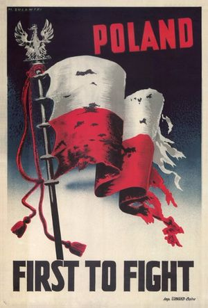 Marek Zulawski, ​Poland First to Fight​, 1939, poster, Private Collection, courtesy the artist's estate