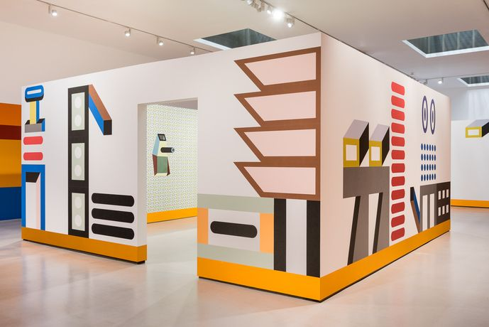 Installation view of Nathalie Du Pasquier: Other Rooms, Camden Arts Centre, 2017. Photo: Damian Griffiths