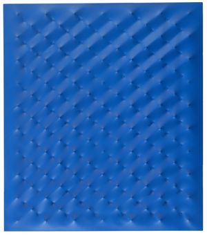 Enrico Castellani, 'Superficie blu', 2006, Acrylic on shaped canvas, 80 x 70 cm