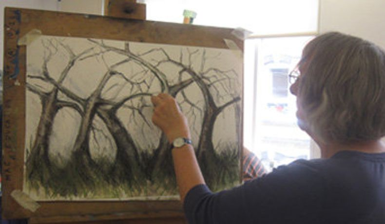 Art Workshop - Expressive Treescapes in Graphite with David Brammeld RBSA: Image 0