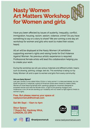 Art Workshop for Vulnerable/Underrepresented Women