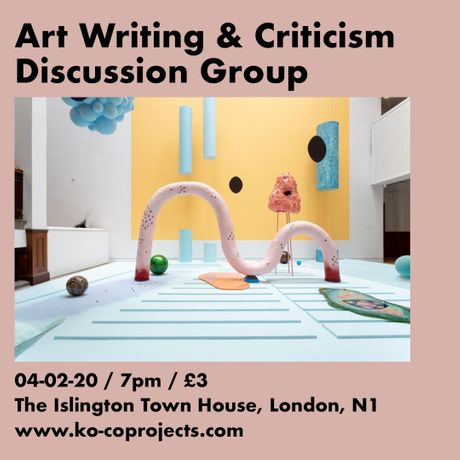 Art Writing & Criticism Discussion Group: Image 0