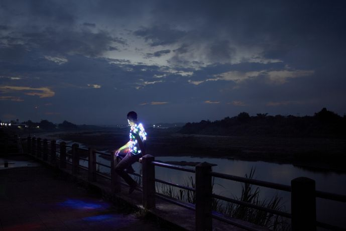 Apichatpong Weerasethakul, Power Boy (Mekong), 2011, Lightjet Print, 1500mm X 2250mm, courtesy of Kick the Machine Films