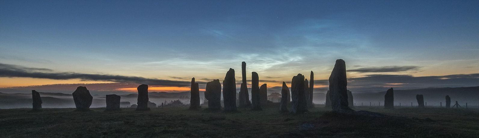 Emma Rennie, Misty Callanish standing stones and Noctilucent clouds