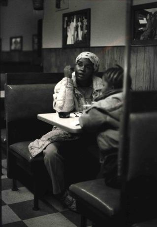 Ming Smith, Lady and Child (From the August Wilson Series), c. 1993, Courtesy of the artist and Steven Kasher Gallery New York
