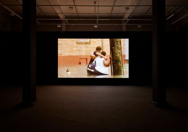 Arthur Jafa, Love is the Message, the Message is Death, 2016. Digital color video, with sound, 7 min., 25 sec. Installation view: Love is the Message, the Message is Death, Gavin Brown's enterprise, New York, 2016. Photo: Thomas Müller