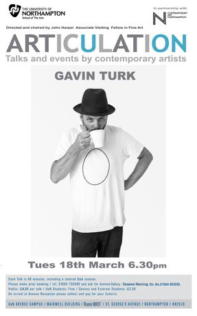 Articulation: Artist's talk by Gavin Turk: Image 0