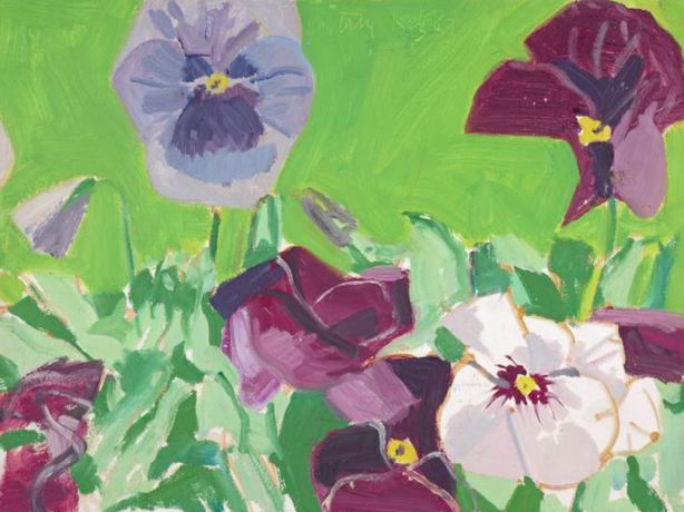Alex Katz, Pansies 1967. Tate / National Galleries of Scotland. © Alex Katz