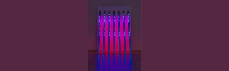 Jenny Holzer BLUE PURPLE TILT 2007. ARTIST ROOMS National Galleries of Scotland and Tate. Acquired jointly through d'Offay Donation with assistance from the National Heritage Memorial Fund and Art Fund 2008 © Jenny Holzer, ARS, NY and DACS, London 2017 Photograph © Tate (Marcus Leith)