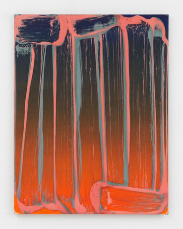 Robert Janitz, Sosumi, 2019, oil, wax, flour on linen