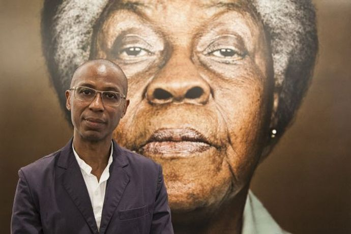 Franklyn Rodgers at his exhibition Devotion - a Portrait of Loretta at Autograph, London