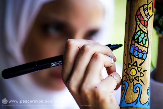 Salwa, Graphic Artist, Artistic Meditation Retreat 2015