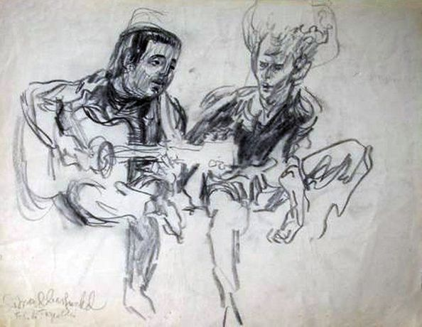 Simon and Garfunkel by Feliks Topolski