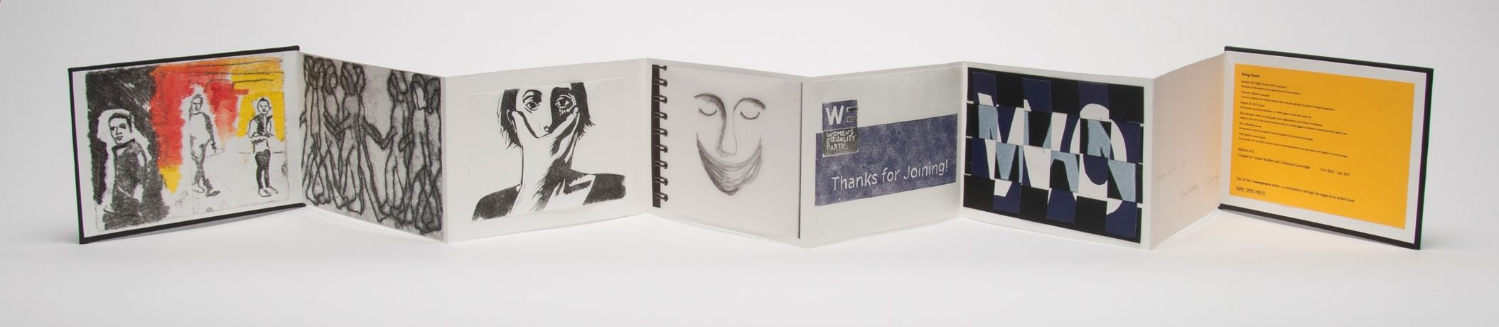 'Being Heard, artists' book by Leonie Bradley & Catherine Cartwright'