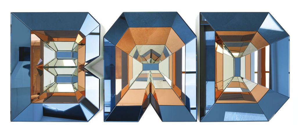Doug Aitken, 1968  BAD  2014  82,6 x 208,3 x 29,2 cm  High density foam, wood, mirror and painted glass  Private Collection