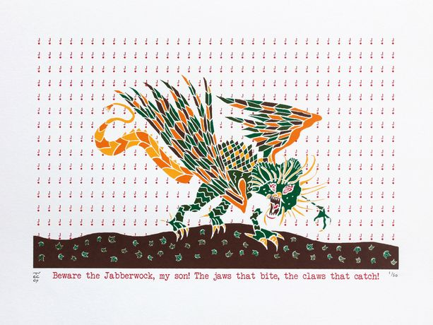 Jabberwock - a print by Liz Whiteman Smith